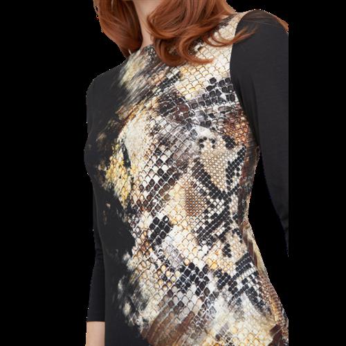 Czarna ze wzorem sukienka Joseph Ribkoff