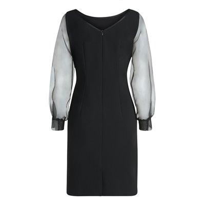 Wieczorowa czarna sukienka Vera Mont