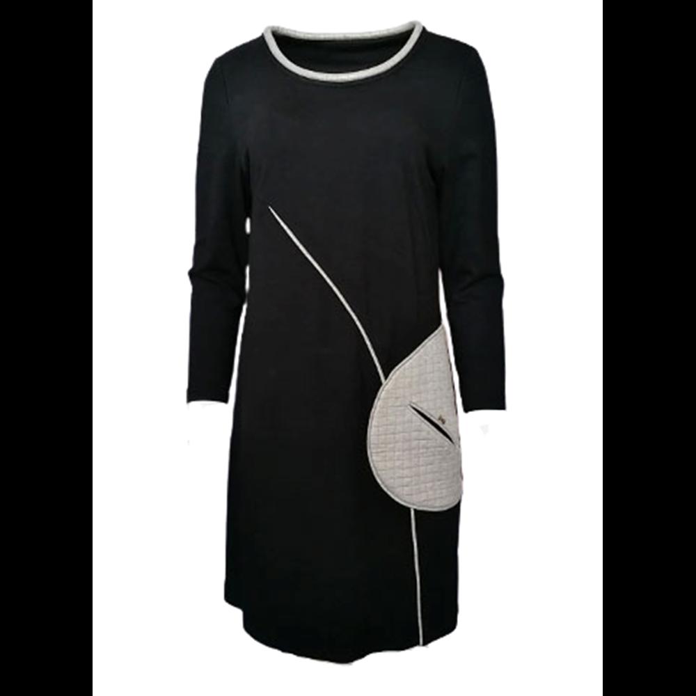 Codzienna czarna sukienka POLA MONDI BY MERLA