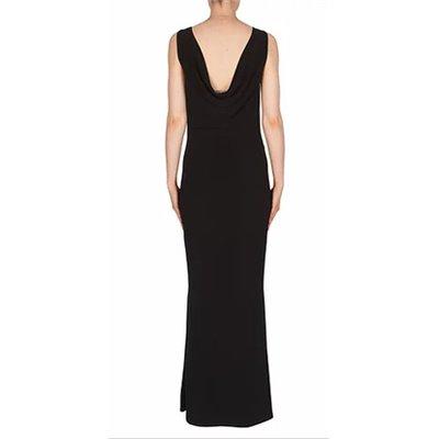 Czarna wizytowa długa sukienka JOSEPH RIBKOFF
