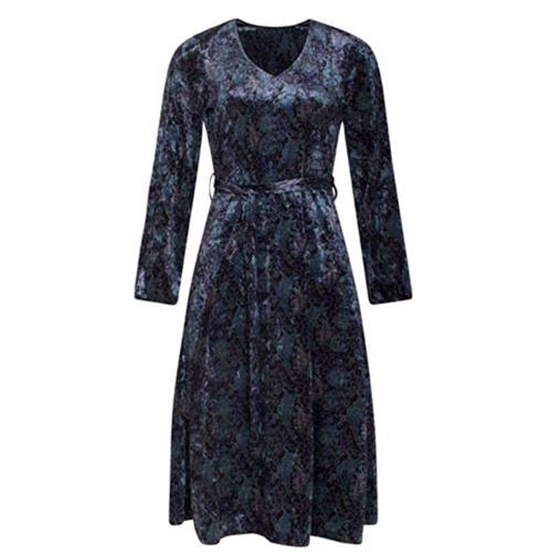 Aksamitowa sukienka SMASHED LEMON