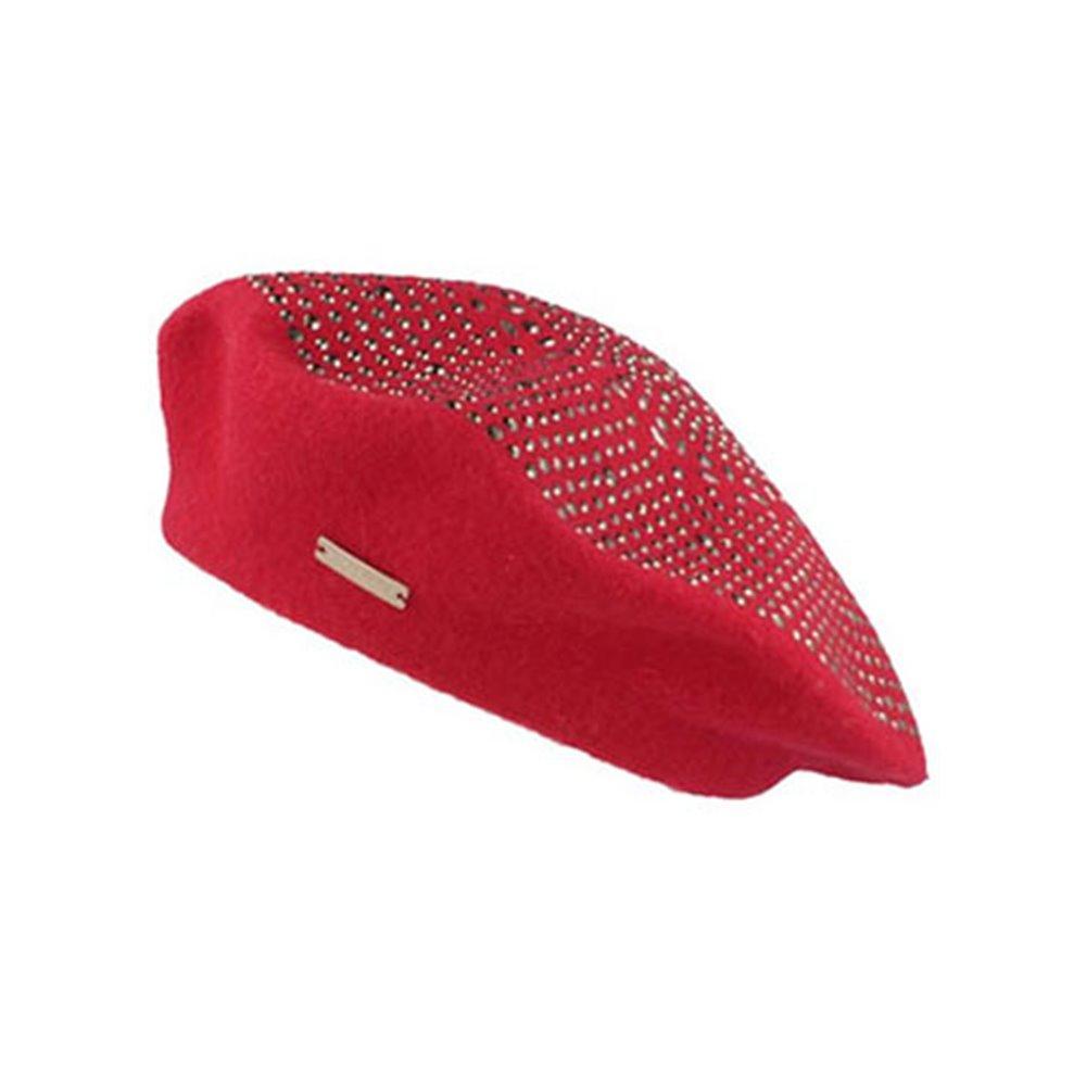 Czerwony beret SEEBERGER
