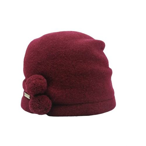 Bordowa czapka SEEBERGER