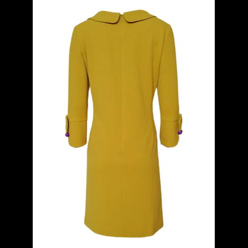 Musztardowa sukienka POLA MONDI BY MERLA