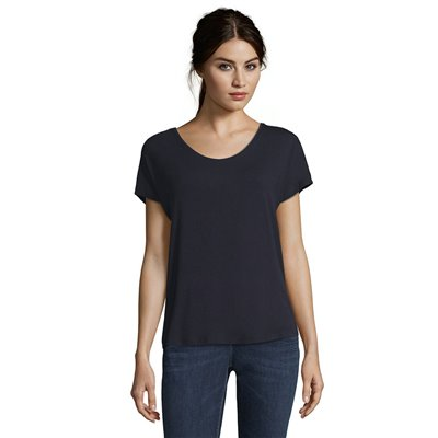Jednolity granatowy t-shirt Betty&CO