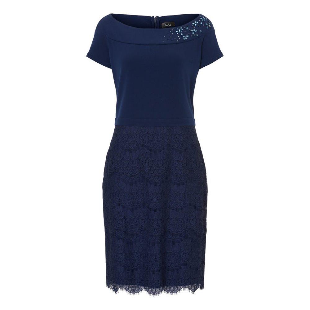 Granatowa koronkowa sukienka Vera Mont