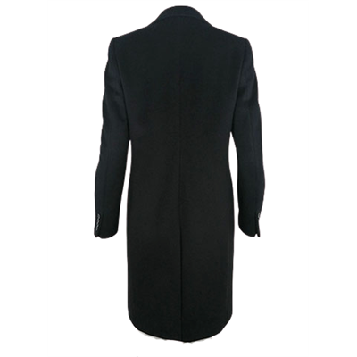 Elegancki czarny płaszcz WEGA