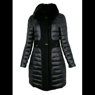 Pikowana czarna kurtka PREGIO