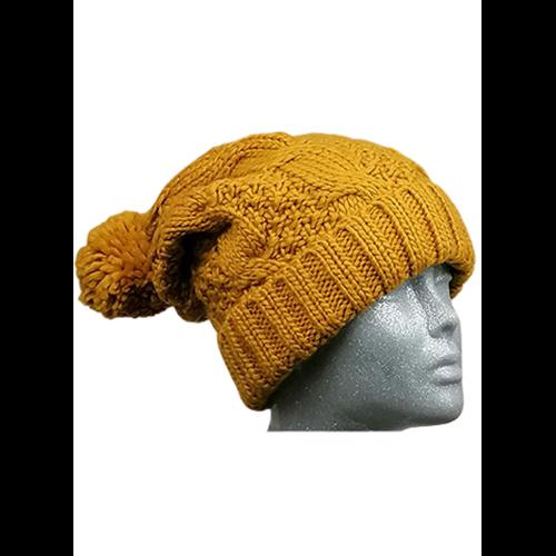 Musztardowa czapka PASSIGATTI