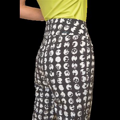 Czarne wzorzyste spodnie Joseph Ribkoff