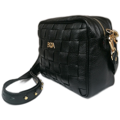 Mała czarna torebka skórzana BOCA