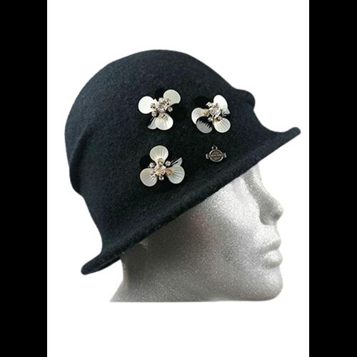Czarna czapka SEEBERGER