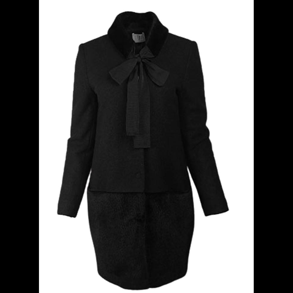 Czarny płaszcz Sisel