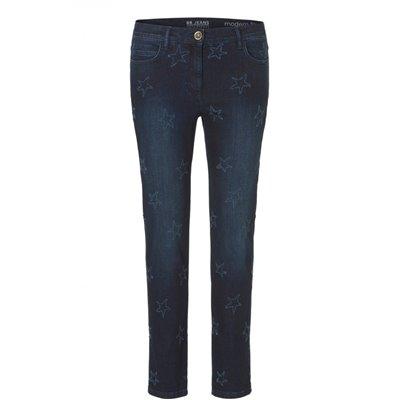 Wzorzyste jeansy w gwiazdki Betty Barclay