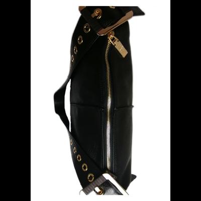 Czarna torebka ze skóry naturalnej BOCA