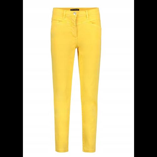 Bawełniane żółte spodnie Betty Barclay