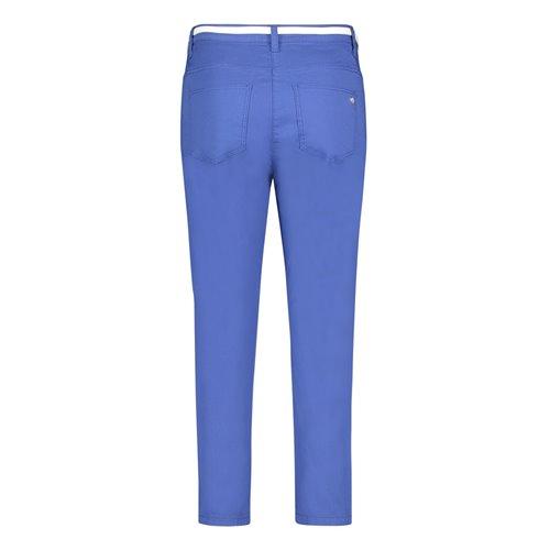 Kobaltowe bawełniane spodnie z paskiem Betty Barclay
