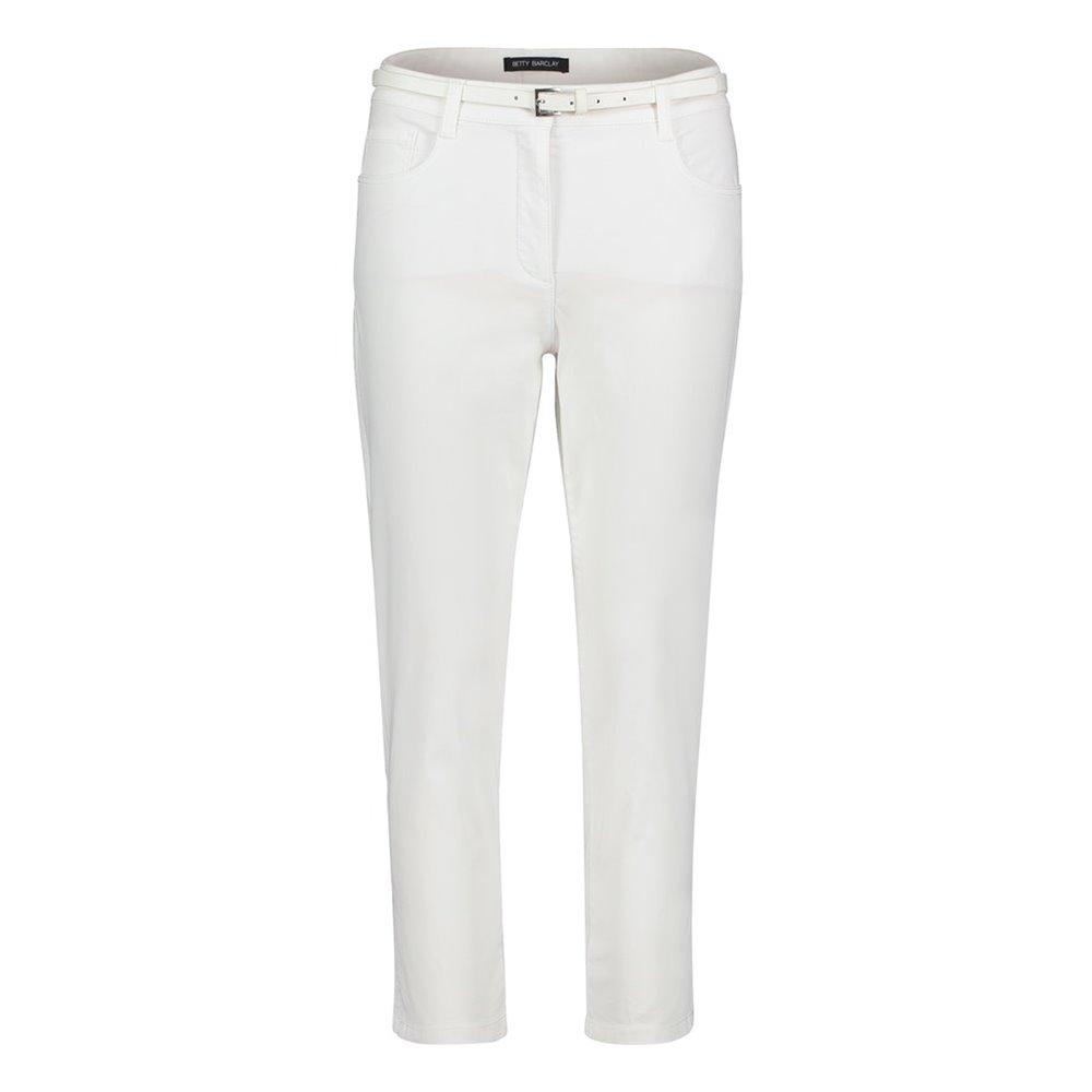 Białe spodnie z paskiem Betty Barclay