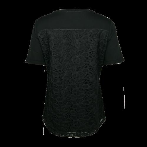 Czarna bluzka z nadrukiem Le Comte