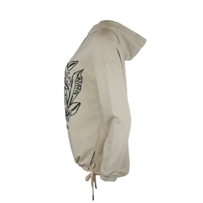 Beżowa bluza z kapturem i nadrukiem Le Comte