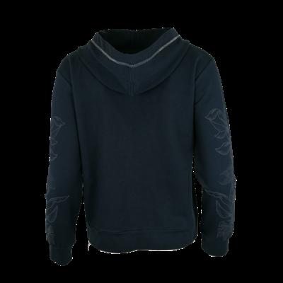 Granatowa bluza na suwak Le Comte