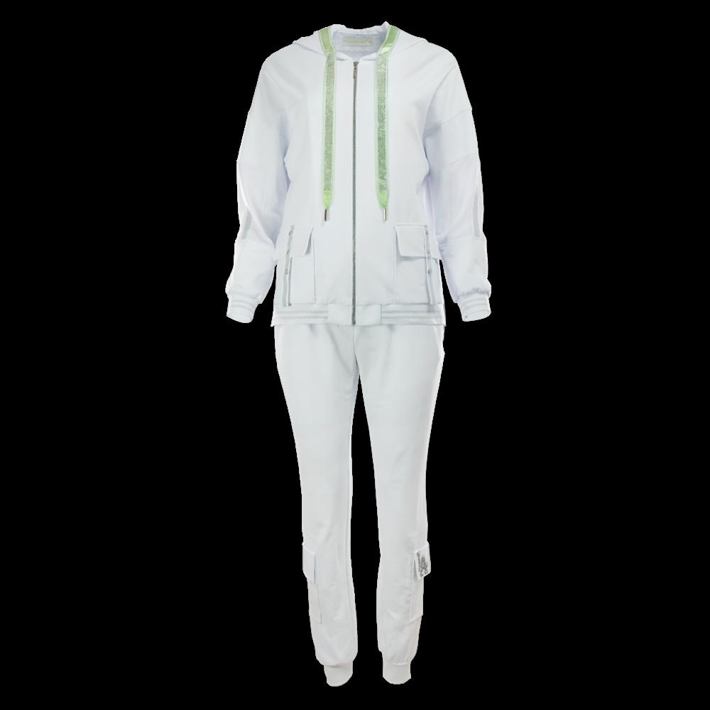 Biały komplet dresowy POLA MONDI BY MERLA