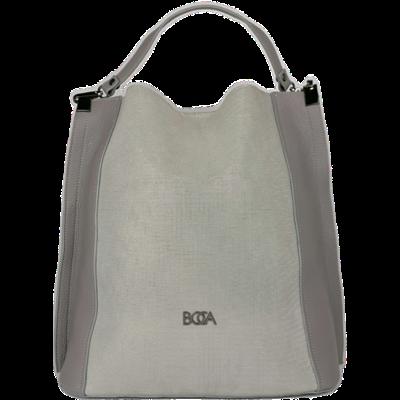 Popielata skórzana torebka BOCA