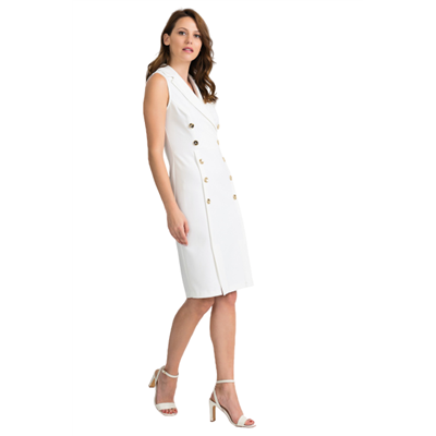Biała dwurzędowa sukienka Joseph Ribkoff