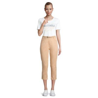 Karmelowe z paskiem spodnie Betty Barclay