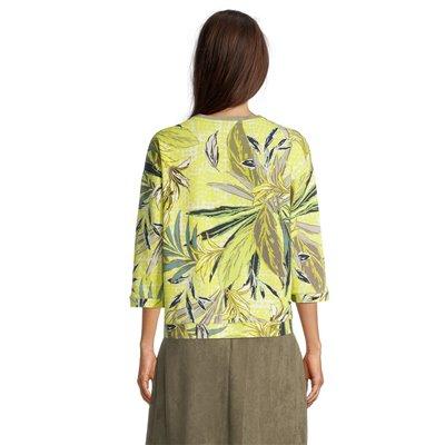 Bluza limonkowa z nadrukiem Betty Barclay
