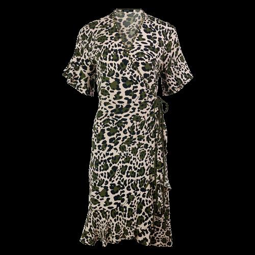 Kopertowa wzorzysta sukienka FUEGO Ananke