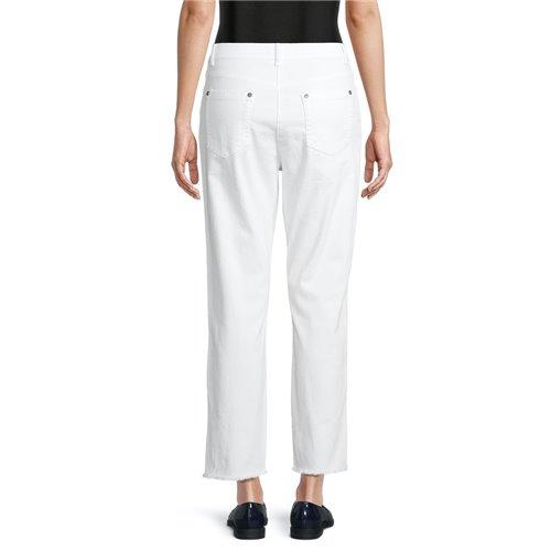 Białe bawełniane spodnie z ozdobą Betty Barclay