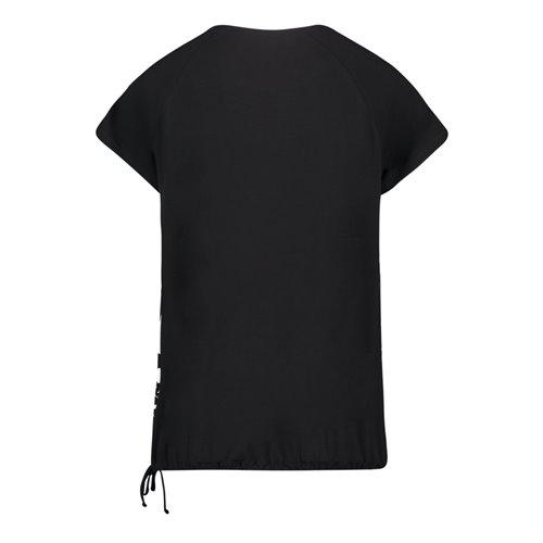 Czarna bluzka z nadrukiem Betty Barclay
