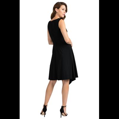 Asymetryczna czarna sukienka Joseph Ribkoff