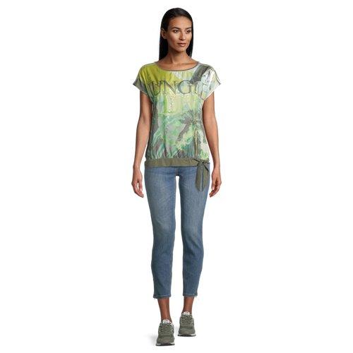 Oliwkowa z nadrukiem bluzka Betty Barclay