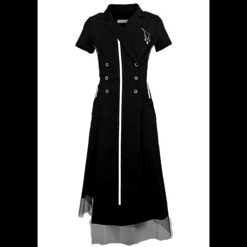Asymetryczna czarna sukienka POLA MONDI BY MERLA