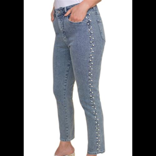 Jeansy z perełkami Joseph Ribkoff