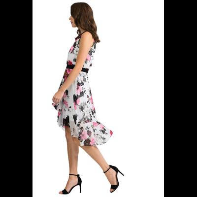 Niezwykle efektowna  sukienka w tropikalne kwiaty