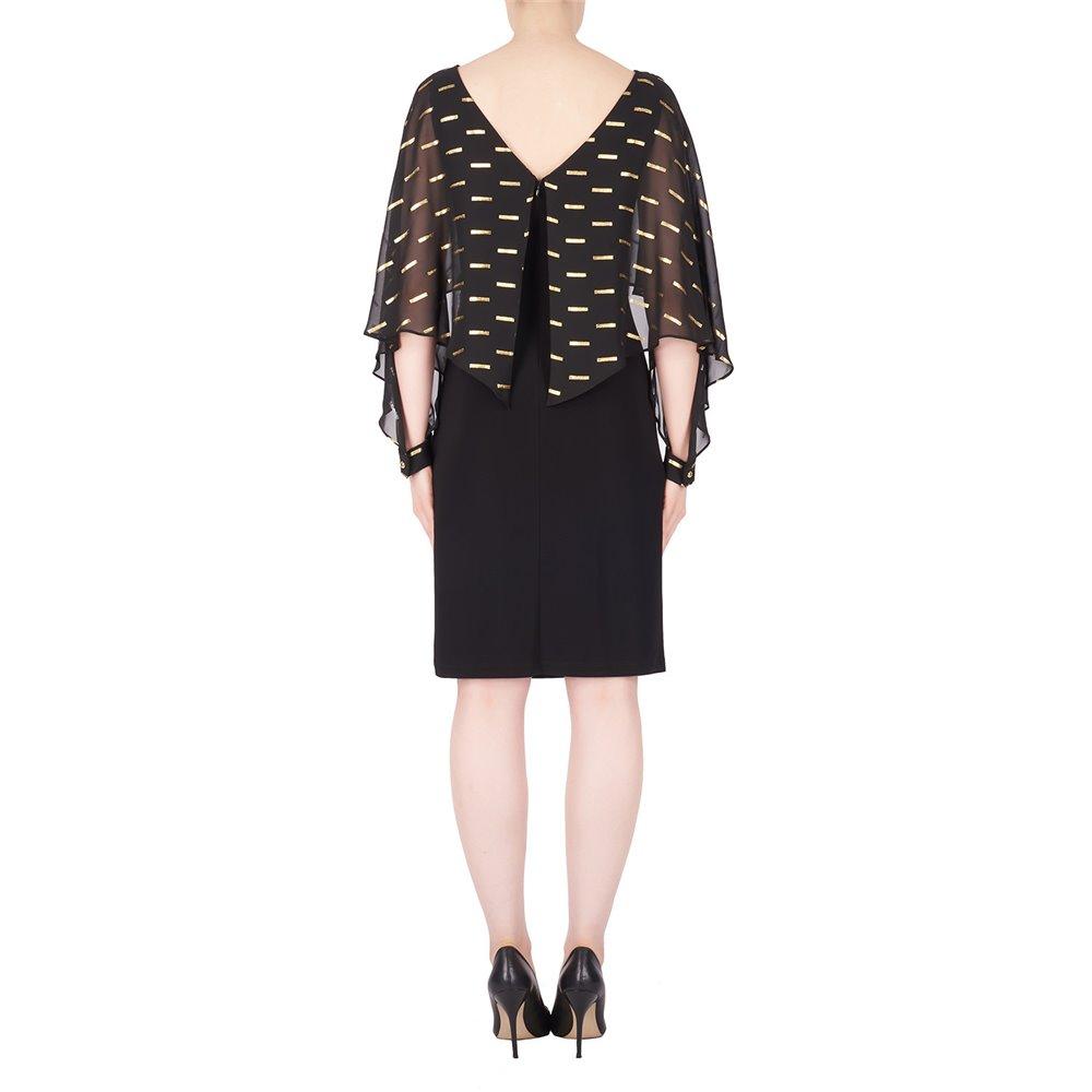 Wieczorowa sukienka Joseph Ribkoff w kolorze czarnym z prześwitującą narzutką