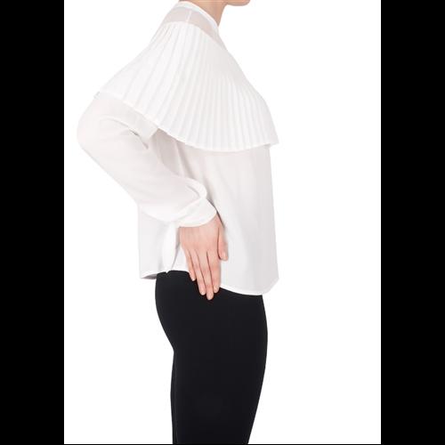 Plisowana biała bluzka Joseph Ribkoff