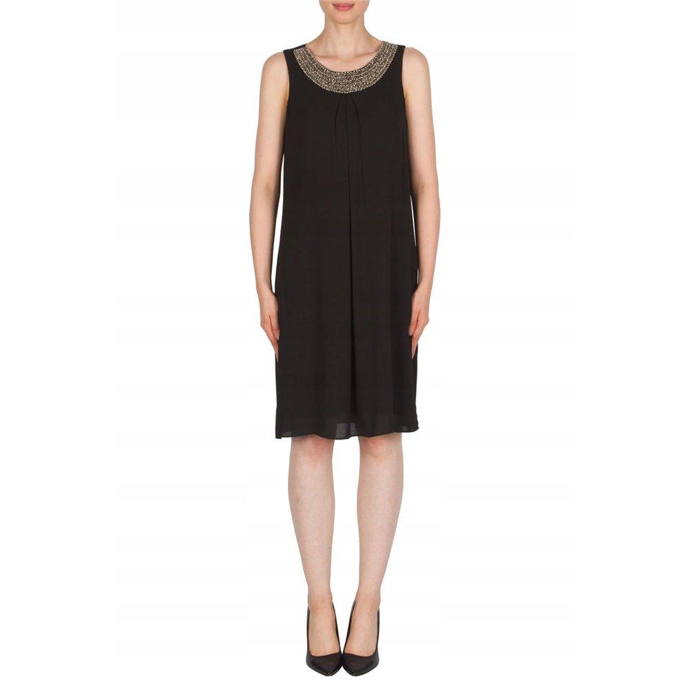 Jednolita czarna sukienka  Joseph Ribkoff