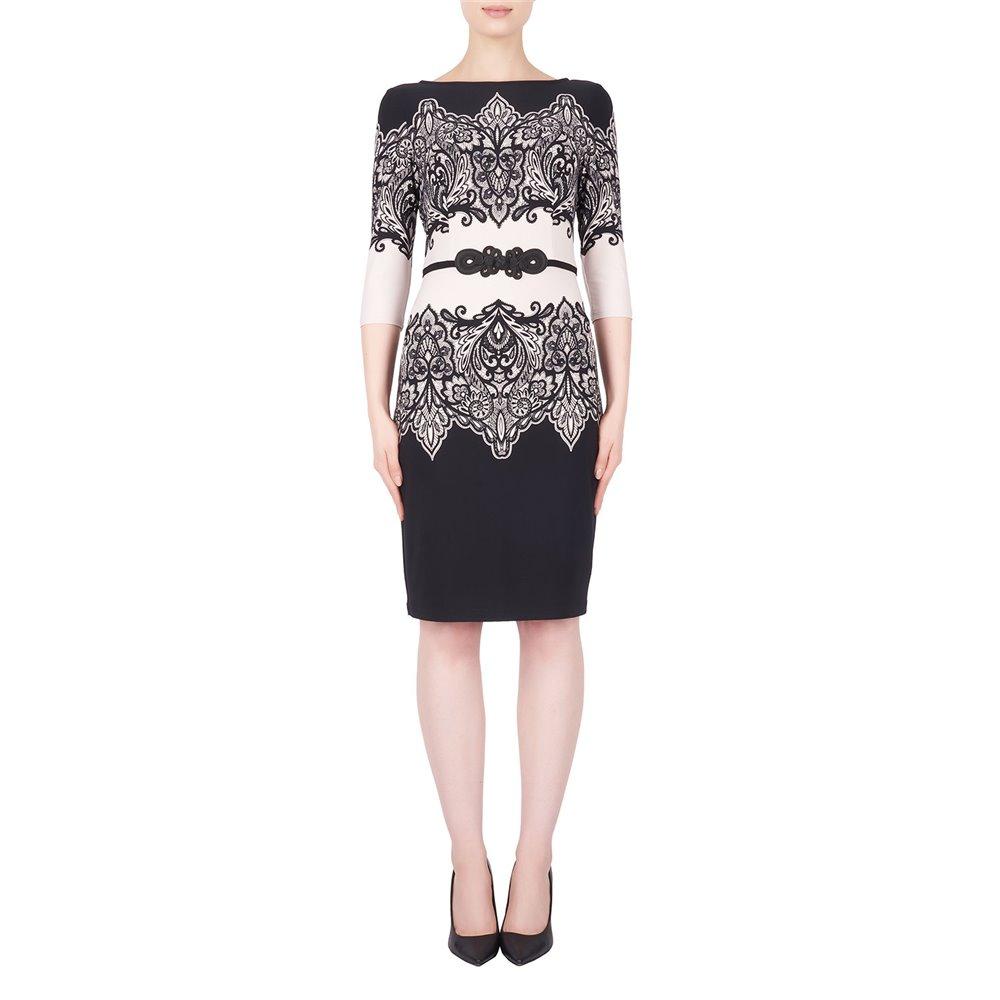 Wzorzysta sukienka Joseph Ribkoff  w kolorze czerni