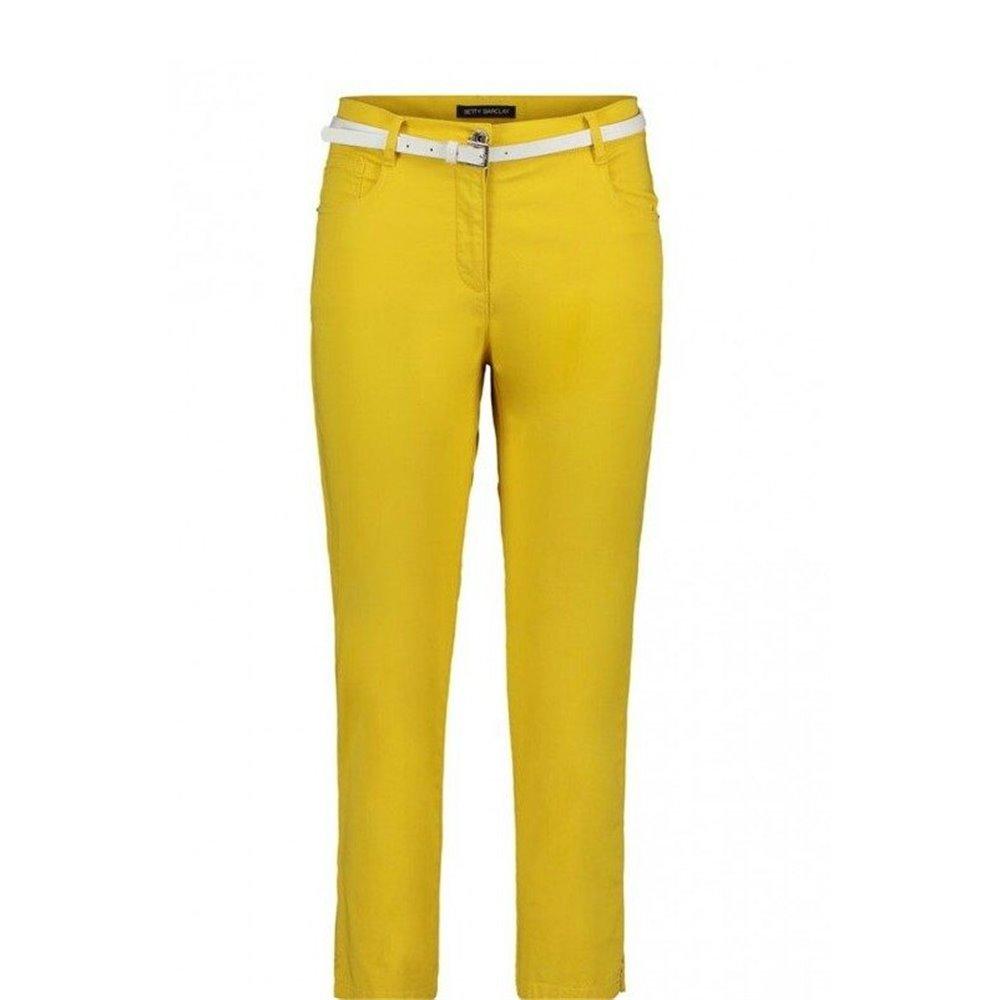 Żółte spodnie z paskiem Betty Barclay