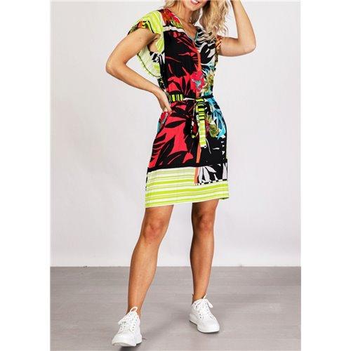 Kolorowa sukienka Smashed Lemon  z tropikalnym wzorem