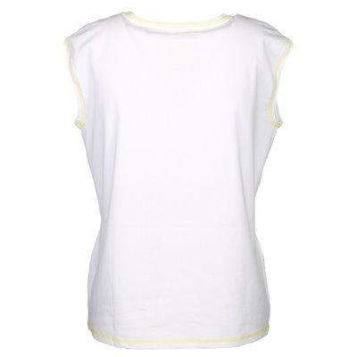 Bluzka biała z nadrukiem Le Comte