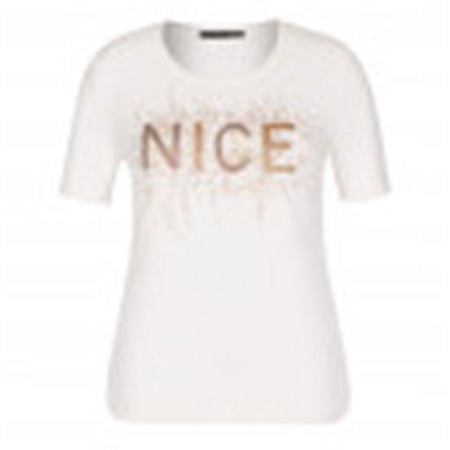 Biała bluzka z nadrukiem Le Comte