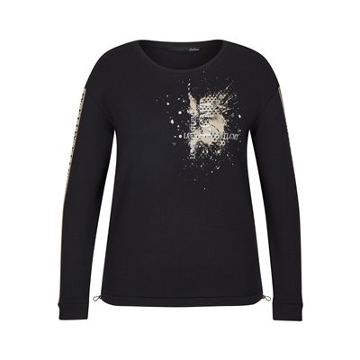 Czarna bluza z nadrukiem Le Comte