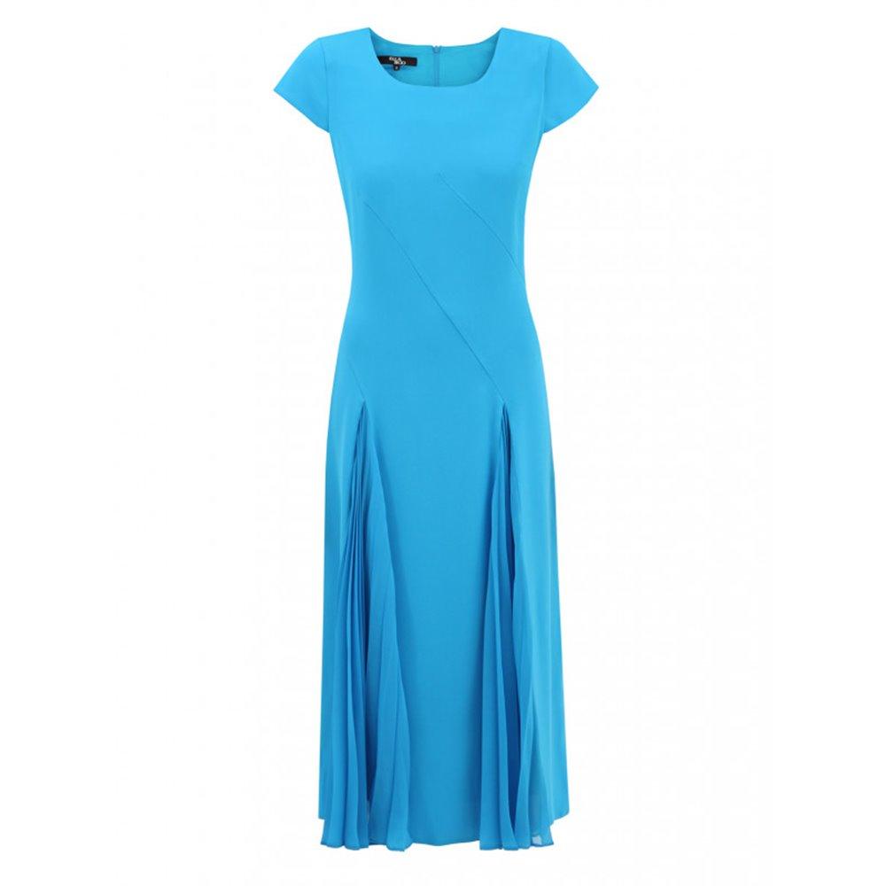 Niebieska sukienka z plisowanymi wstawkami LIZABELLA