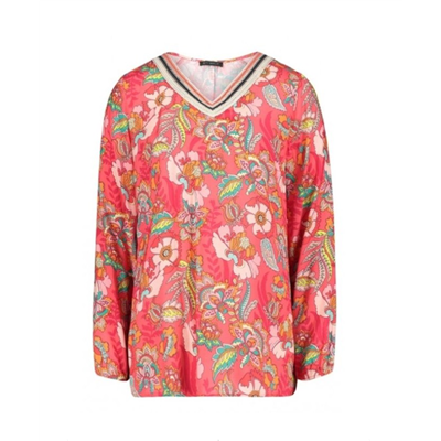 Czerwona bluzka w kwiaty BettyBarclay