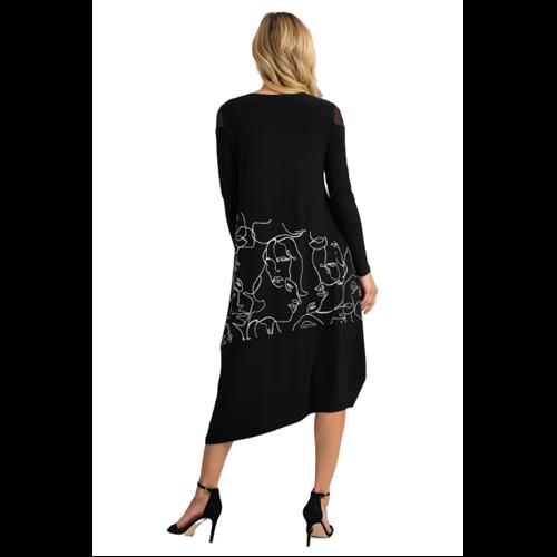 Asymetryczna sukienka Joseph Ribkoff